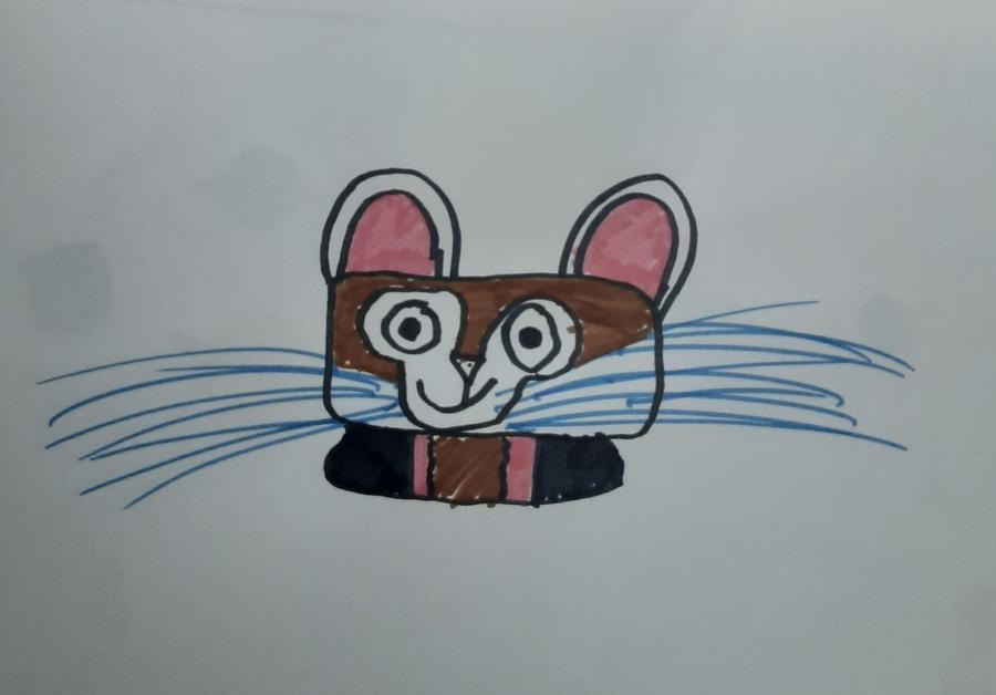 Cerys drew her own mouse character