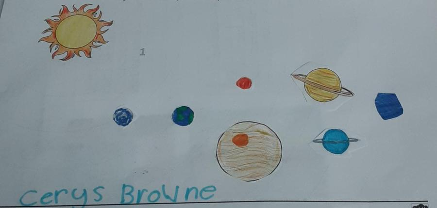 Cerys explored the planets in our solar system