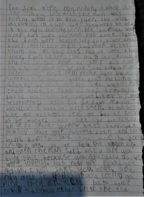 Devon wrote a story based on a picture