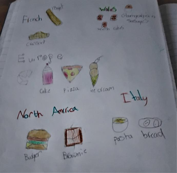 Maddison created an amazing poster about food around the world