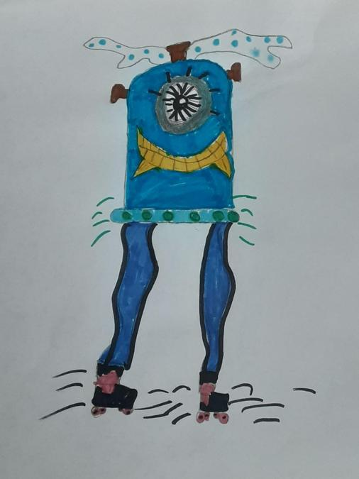 Cerys drew her own alien