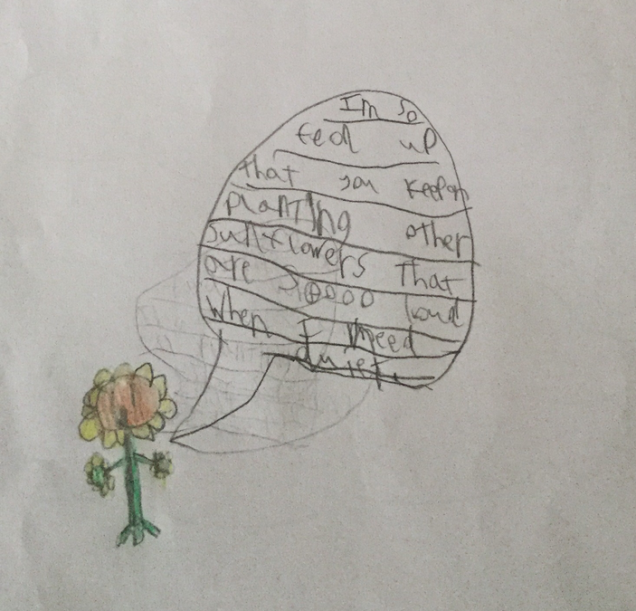 Henry created a character and wrote an opinion for him