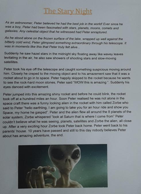 Cerys' space story