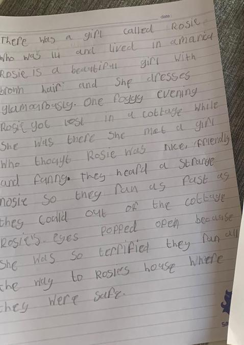 Raya's creative writing story