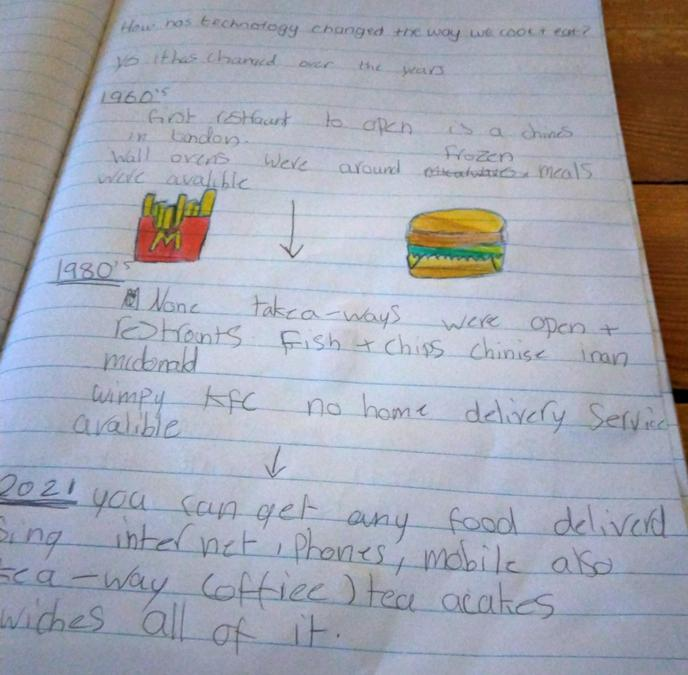 Maddison's poster about food (continued)