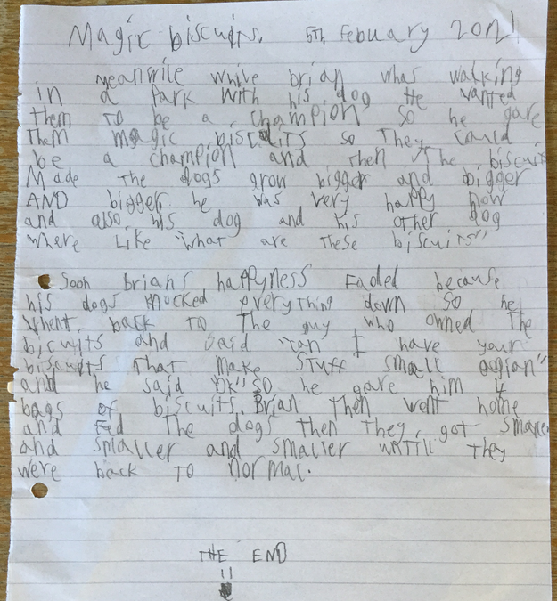 Henry's amazing story based on a picture