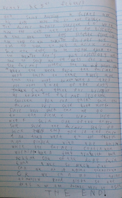 Dougie wrote an amazing story based on a picture
