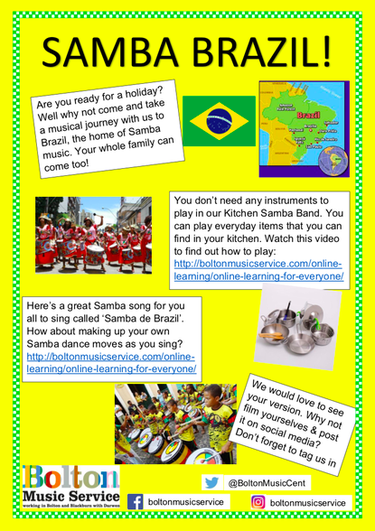An optional resource for music activities over the summer