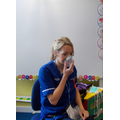 An oxygen mask to help patients breath