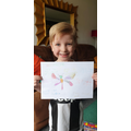 Orin drew a dragonfly for his minibeast fact file!