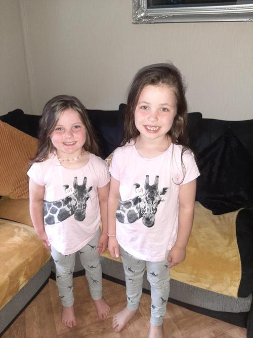matching giraffe t-shirts!