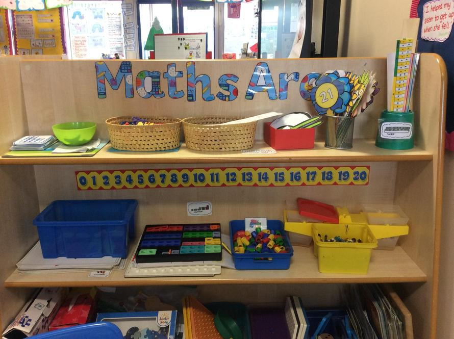 You can play number games in the Maths Area.