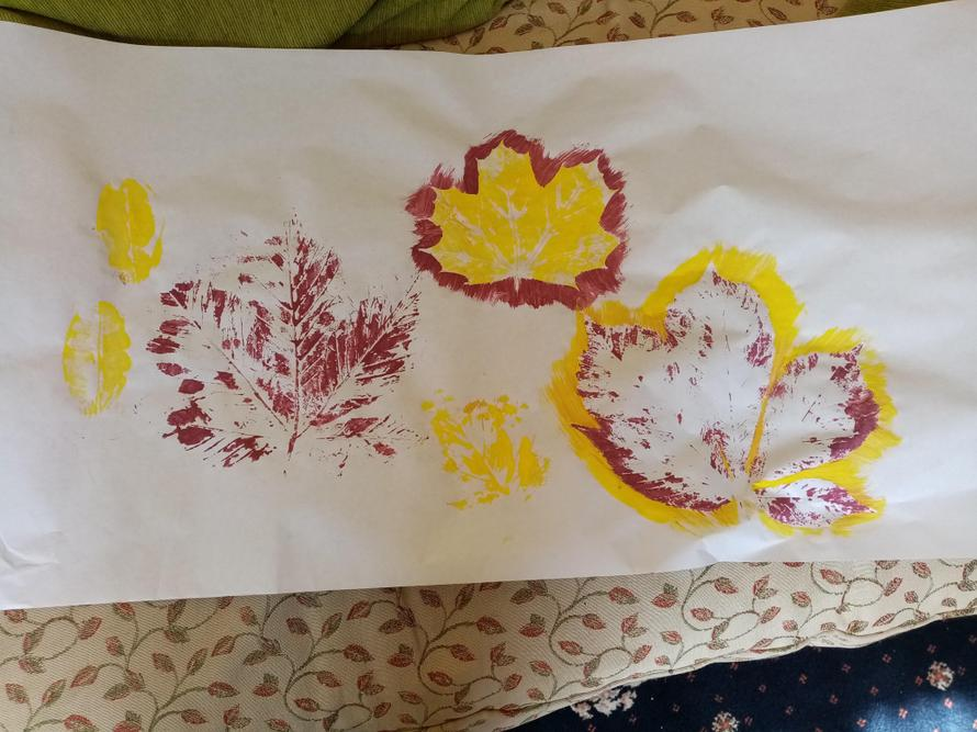 Jacob's leaf printing