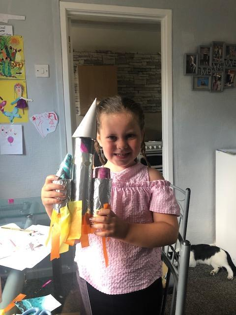 What an amazing junk model rocket! Well done!