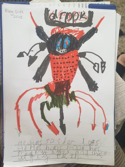A fantastic description of a monster!