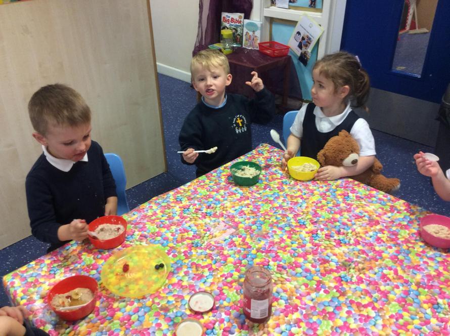 The porridge was very tasty!