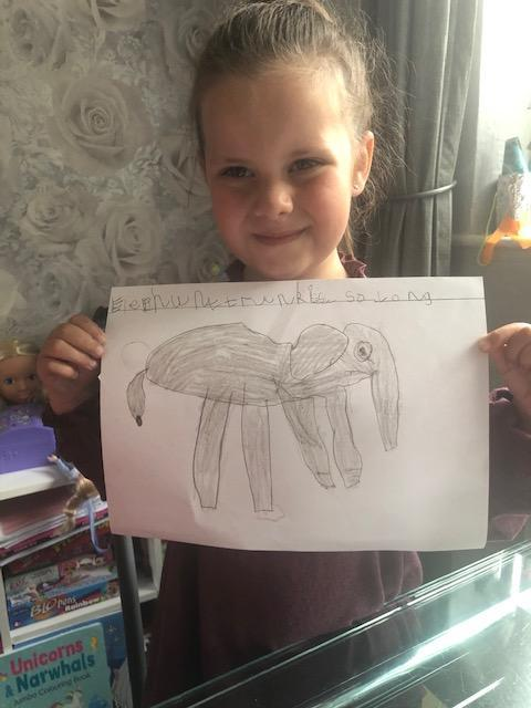 An amazing fact about an elephant, super writing!