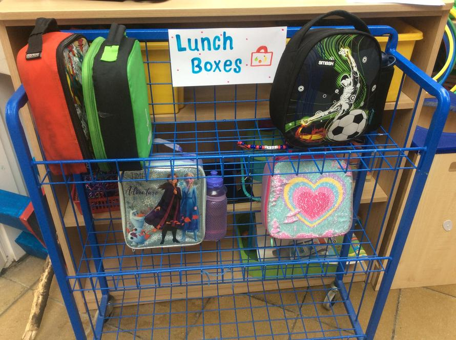 This is where you put your lunch box.