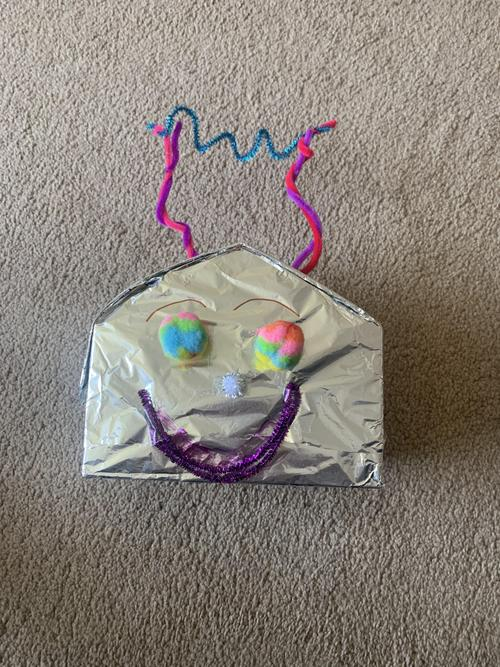 I made my robot out of an Easter Egg Box!