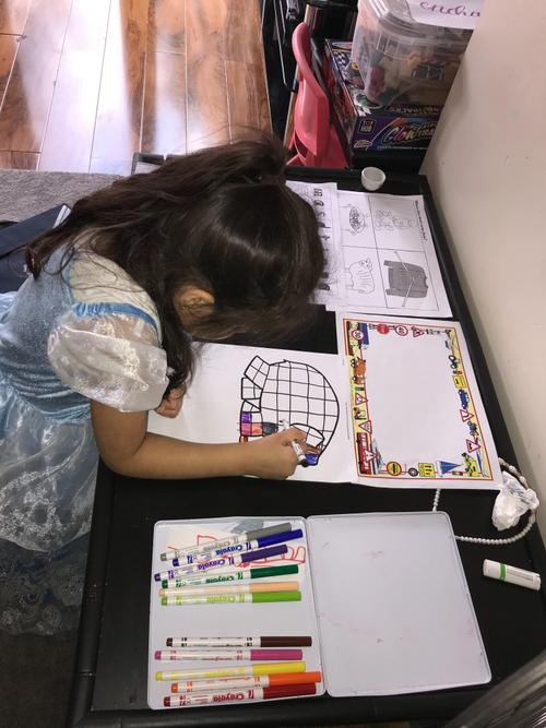 Completing work from Nursery