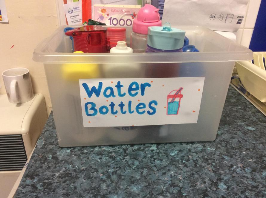 This is where you put your water bottles.
