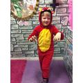 A fiery dragon!