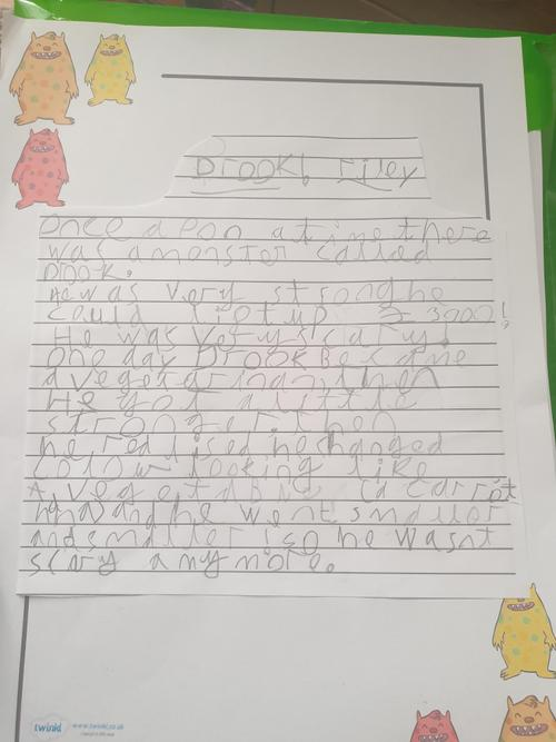 A great monster story full of adjectives!