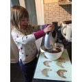 Making Easter cakes