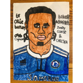 Ollie's portrait of Didier Drogba