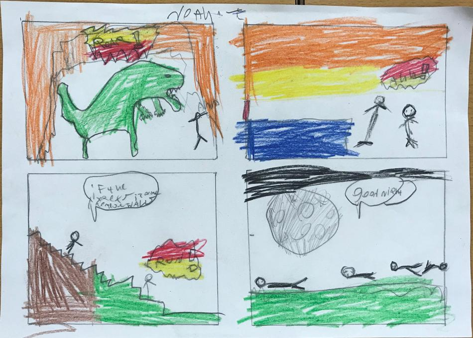 Noah's amazing design for his graphic novel inspired by his own story.