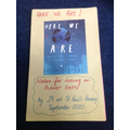 """Our book """"Here We Are"""". What is wonderful about the world. How should we live."""