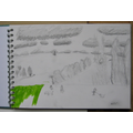 Emma's outdoor sketching