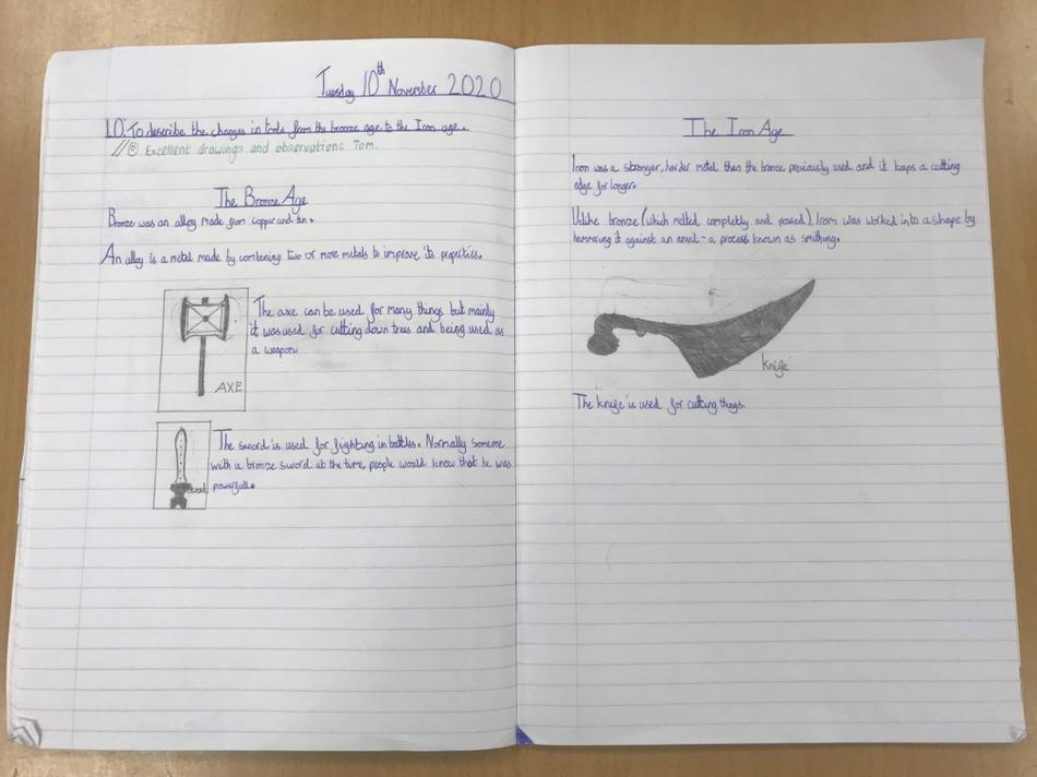 Tom's fantastic work on use of bronze and iron tools.