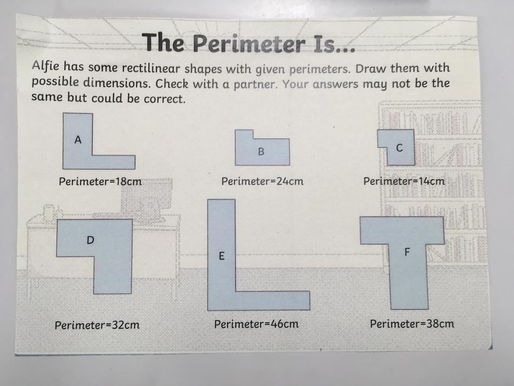 This perimeter challenge got the children thinking!