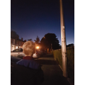 James has see the International Space Station.