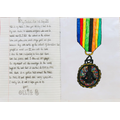 Ollie's design for a VE Day medal
