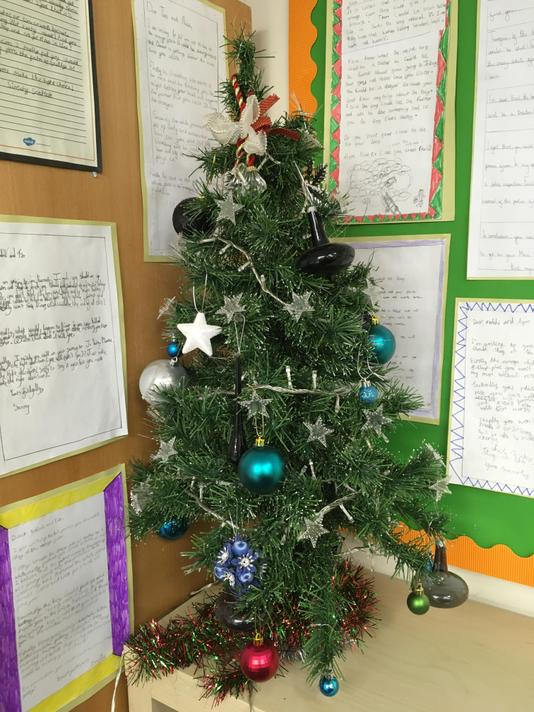 Thank you Mrs Patel for putting up the class Christmas tree.