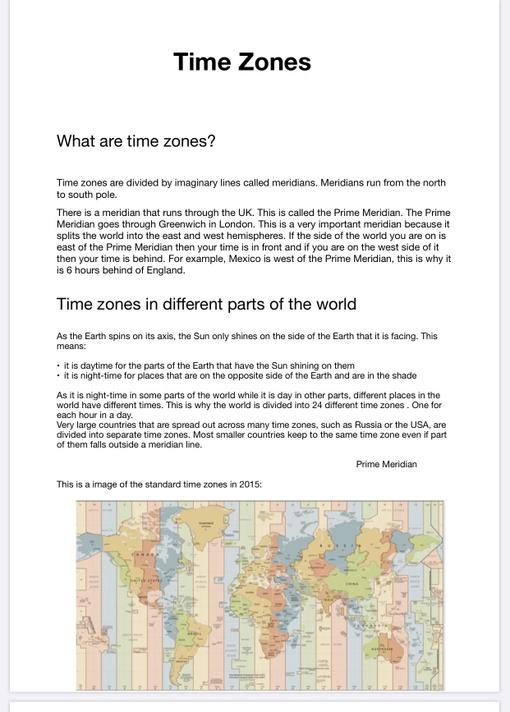 Lily's Time zones