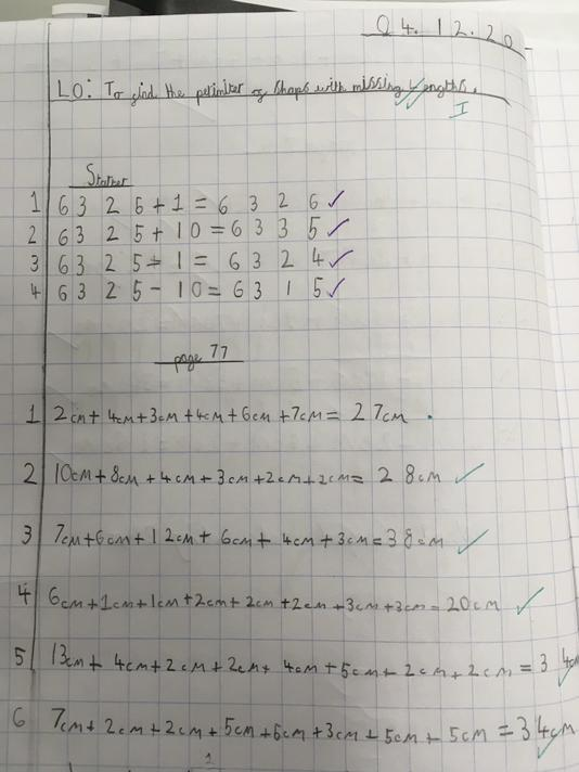 Some well presented classwork!