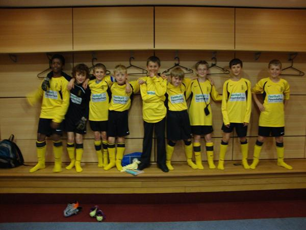 Football Team in Villa Away Team Dressing Room