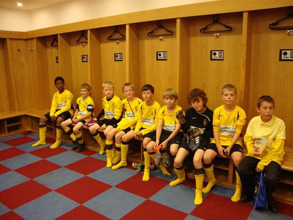 Football Team in Villa Dressing Room