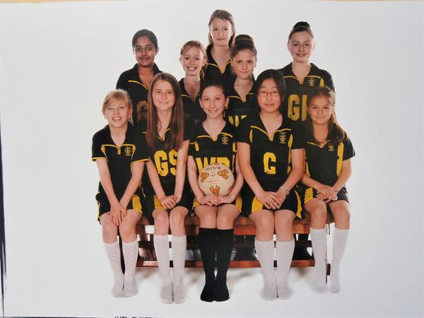 St Peter's Year 5 and 6 Netball Team 2012-2013