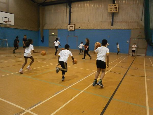Basketball Competition - Warming Up