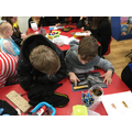 Reading books with Year 6
