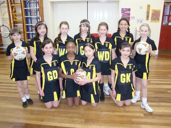 Netball Squad 2010-2011