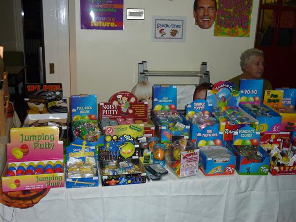Stalls from the Gift and Treat Evening