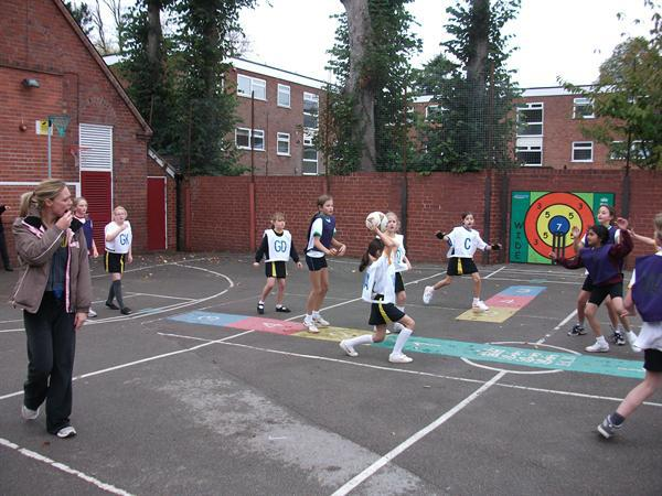 Netball Tournament B Team in Action