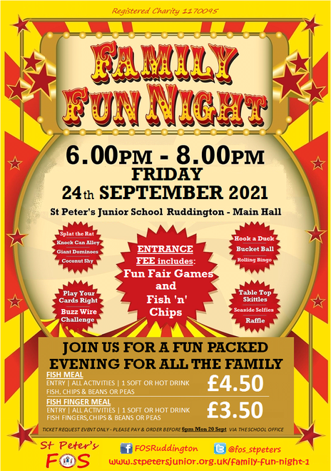 Family Fun Night - Fri 24 Sept 6.00pm-8.00pm