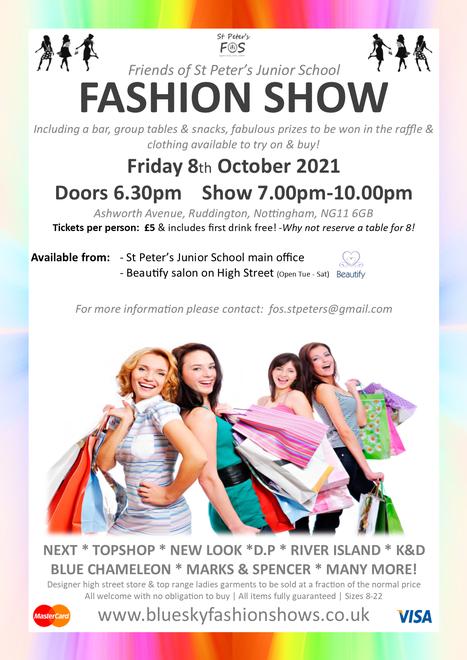 Fashion Show - Fri 8 Oct Doors Open 6.30pm