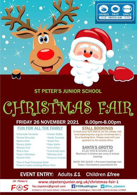 Christmas Fair - Fri 26 Nov 6.00pm-8.00pm